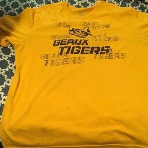 Dri fit Nike tee with the LSU tigers theme